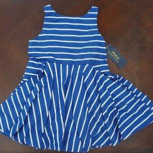 Sleeveless Striped Sateen Party Dress Ralph Lauren